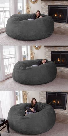 Turn a day of lounging around your house into paradise by plopping down onto this jumbo bean bag chair. It's big enough to accommodate up to three people and comes with a dual layer design so you can