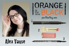 ALEX VAUSE -- Makeup inspiration / Inspiration maquillage : Orange is the New Black http://www.missvay.com/2015/07/inspiration-maquillage-orange-is-new-black.html  #oitnb #OrangeistheNewBlack #makeup