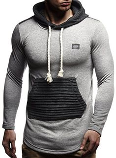 b129c5c835 Bei Amazon | LEIF NELSON Herren Kapuzen Pullover Hoodie Sweatjacke  Longsleeve gesteppter Langarm Basic Sweatshirt T-Shirt Shirt Sweater  LN8176; Größe S, ...