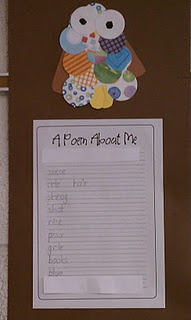 Easy poetry piece for first graders.