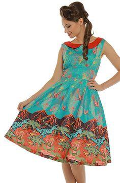 115031fc8dee Clothing Pink Polka Dots, 1950s Fashion, Midnight Blue, 50th Birthday, Swing  Dress