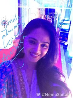 Anushka Shetty is gorgeous beauty of South Indian film industry.Her parents are Vittal Shetty & Prafulla Indian Film Actress, South Indian Actress, Indian Actresses, Actors & Actresses, Prabhas And Anushka, India People, South Indian Film, Beautiful Girl Indian, Indian Celebrities