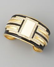 Rachel Zoe Deco Crystal Cuff - love this