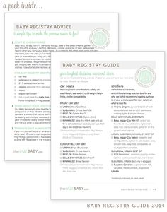 The Ultimate Guide to building a Baby Registry - pages