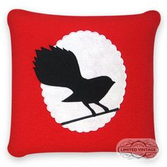 This cushion cover measures by and has a zip opening at the bottom.Cushion inner's can be purchased separately.Free delivery for all cushion covers wi Cushion Covers, Flag, Cushions, Wool, Red, Vintage, Throw Pillows, Pillows, Science