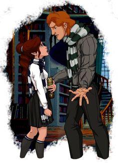 Belle and Prince Adam — Harry Potter / Disney fan art Disney Magic, Disney Pixar, Disney Fan Art, Disney Animation, Disney E Dreamworks, Heros Disney, Disney Nerd, Disney Love, Disney Characters