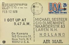 Arte Conceptual / On Kawara / I Got Up at 9:47 am ( Feb 12 1978 ).