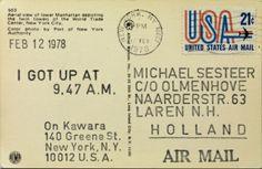 Arte Conceptual / On Kawara / I Got Up at 9:47 am ( Feb 12 1978 ).