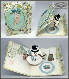 Karen Burniston using the Pop it Ups Twist Circle, Labels & Circles and various Charms die sets by Karen Burniston for Elizabeth Craft Designs. 3d Cards, Pop Up Cards, Stampin Up Cards, Fancy Fold Cards, Folded Cards, Christmas Cards To Make, Xmas Cards, Tarjetas Pop Up, Interactive Cards