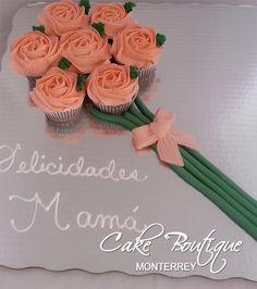 Quequitos ramo de flores, cupcakes, kekos, rosas, mother´s day, día de las madres