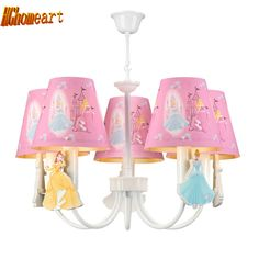 54.40$  Watch now - http://alieb9.shopchina.info/go.php?t=32801902589 - Hghomeart Kids Room Led Pink Chandelier Light  E14  Chinese Chandeliers Led Lamps Home Lighting Modern Staircase Chandelier  #magazineonline