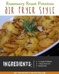 Air fryer recipes | rosemary roast potatoes air fryer style :)