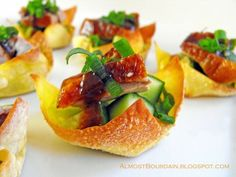 Peking Duck Cocktail Wantons. A modern twist to an old classic.