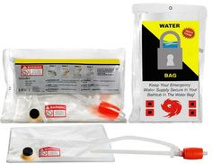 Emergency Bath Tub Water Storage System - Red Cross Store. Holds 65 Gallons. Must have for those in apartments who still want to disaster prep.