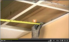 How to Cut Ceiling Tiles #video: http://www.familyhandyman.com/video/v/63634789/how-to-cut-ceiling-tiles.htm