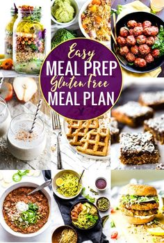 Easy Meal Prep Recipes for a Gluten Free Meal Plan These easy meal prep recipes are perfect for a gluten free meal plan. By prepping ahead you can prepare healthy gluten-free meals easily without a hassle! Healthy Recipe Videos, Healthy Recipes, Healthy Foods To Eat, Diet Recipes, Healthy Snacks, Diet Meals, Easy Recipes, Gluten Free Meal Plan, Free Meal Plans