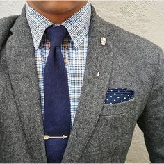 Everybody loves Suits — Tweet works perfectly with knitted ties.