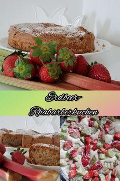 Erdbeer- Rhabarberkuchen mit Birkenzucker