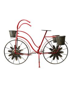 Look what I found on #zulily! Red Bicycle Plant Stand #zulilyfinds