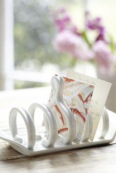 White Ceramic Toast Rack