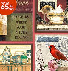 Whether you're posted up in the city, settled by the sea, or somewhere in-between, this selection of wall art will transform your home into a cottage-style space. Inspirational signs add charm to bathrooms and laundry areas, while metal picture frames put family photos on display. Prints depicting birds, butterflies, and flowers bring the countryside indoors.