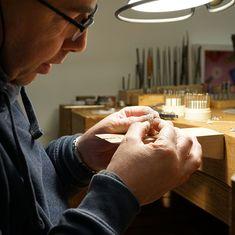 Goudsmid philippe schijns Atelier Pavone atelierpavone Handgemaakte unieke exclusieve sieraden Cadier en keer atelier-pavone Maastricht jodenstraat