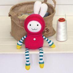Sewsir - Sock doll DIY kit, bunny M15D, craft kit