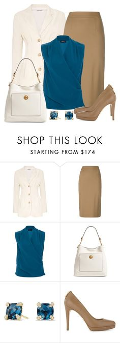 """""""Untitled #1511"""" by gallant81 ❤ liked on Polyvore featuring P.A.R.O.S.H., Paule Ka, Tory Burch, David Yurman and MICHAEL Michael Kors"""