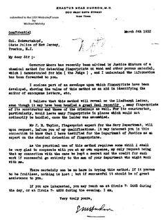 New Jersey official correspondence regarding the case