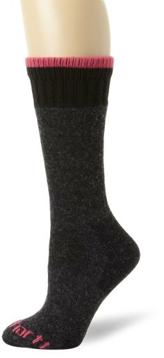Carhartt Women's Extremes All-Season Boot Sock ($9.99) - Keeps her feet nice and warm. - Very comfortable, warm and well padded. - These socks are nice and thick. http://www.amazon.com/exec/obidos/ASIN/B003R7LD6S/electronicfro-20/ASIN/B003R7LD6S