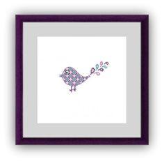 Bird Silhouette Cross Stitch pattern - Cute Lavender Bird - Modern Cross stitch pattern PDF Instant Download