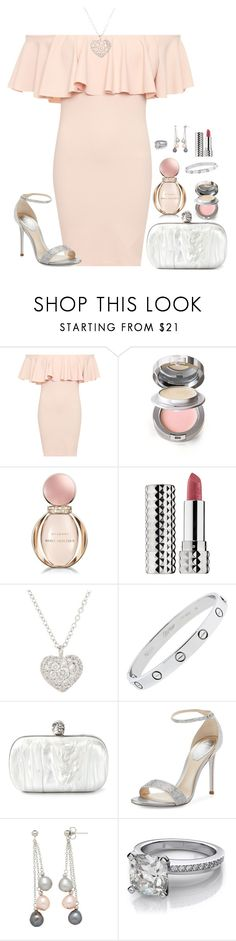 """Date Night"" by claire8ken ❤ liked on Polyvore featuring WearAll, La Prairie, Bulgari, Sephora Collection, Finn, Alexander McQueen, René Caovilla and Honora"
