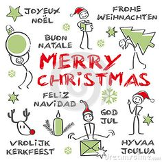 Merry christmas, Multilingual Christmas Card