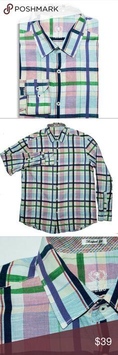 BUGATCHI UOMO SHAPED FIT BUTTON UP SHIRT PLAID BUGATCHI UOMO SHAPED FIT BUTTON UP SHIRT PLAID multi color Bugatchi Shirts Casual Button Down Shirts
