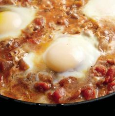 Eggs in Puttanesca Sauce, from Michael Ruhlman's cookbook, EGG!