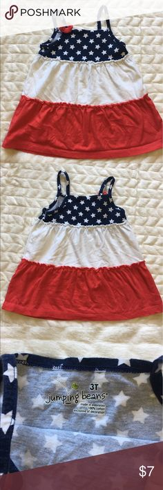 July 4th kids girls Dress Shirt America straps This is a cute little shirt or dress that is perfect for summer and for Fourth of July! Preloved! I've got some other cute girl clothes so please bundle & save on shipping  Dresses Casual