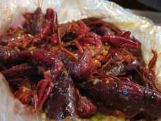 Heaven in a bag - Crawfish in a mild spicy sauce at the Boiling Crab in Alhambra, CA