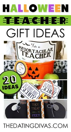 FUN! Cute teacher gift ideas for Halloween. www.TheDatingDivas.com