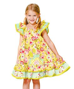 Another great find on #zulily! Yellow Bunnies & Bows Swing Dress - Infant, Toddler & Girls #zulilyfinds