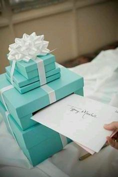 Tiffany Blue Bat Mitzvah Card Box YESSSSS!!!!!!!!!!! i love this idea so much