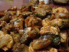 Tocanita de ciuperci cu carne de pui