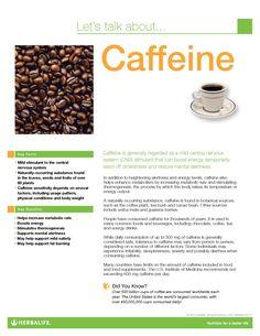 Caffeine Fact Sheet www.goherbalife.com/brookemaske