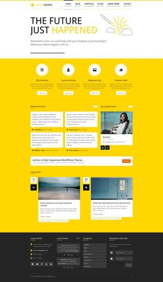 15+ Best WordPress Yellow Color Themes. #best_wordpress_themes_2013