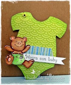 Anneke's Scrapfun: Baby gift tag