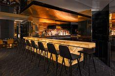 Glowing backlit #onyx bar in a #Paris restaurant