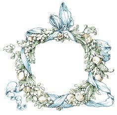 Vintage Clip Art - Fab Ornate Wreath - Frame - The Graphics Fairy Graphics Fairy, Printable Frames, Vintage Labels, Vintage Clip, Vintage Stuff, Vintage Wreath, Wreath Drawing, Frame Clipart, Frame Wreath