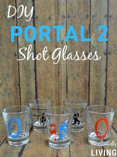 DIY Portal 2 Shot Glasses