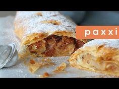 Εύκολο στρούντελ μήλου   Paxxi(E356) - YouTube Cocoa Chocolate, Chocolate Gifts, Sweets Recipes, Cooking Recipes, Strudel, Apple Pie, Delicious Desserts, Treats, Chicken