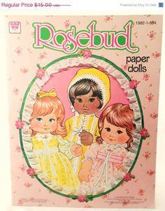 SPRING SALE Vintage 1978 Rosebud Paper Doll by DebscountryVintage, $12.75