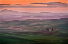 The Palouse hills at sunrise,...: Photo by Photographer Chip Phillips - photo.net